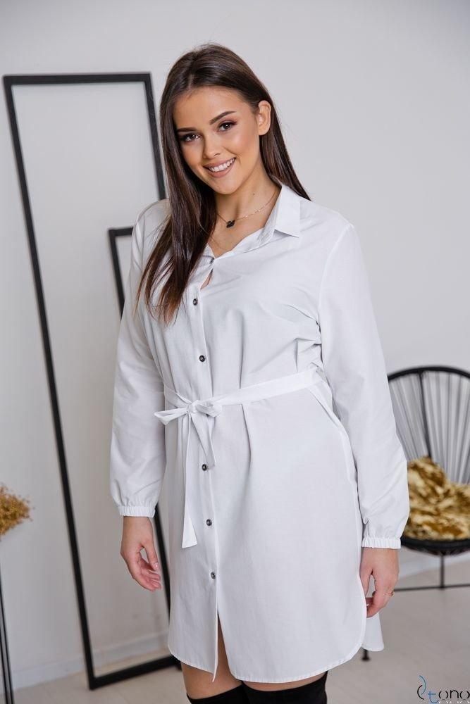 Biała Koszula FIENA Plus Size