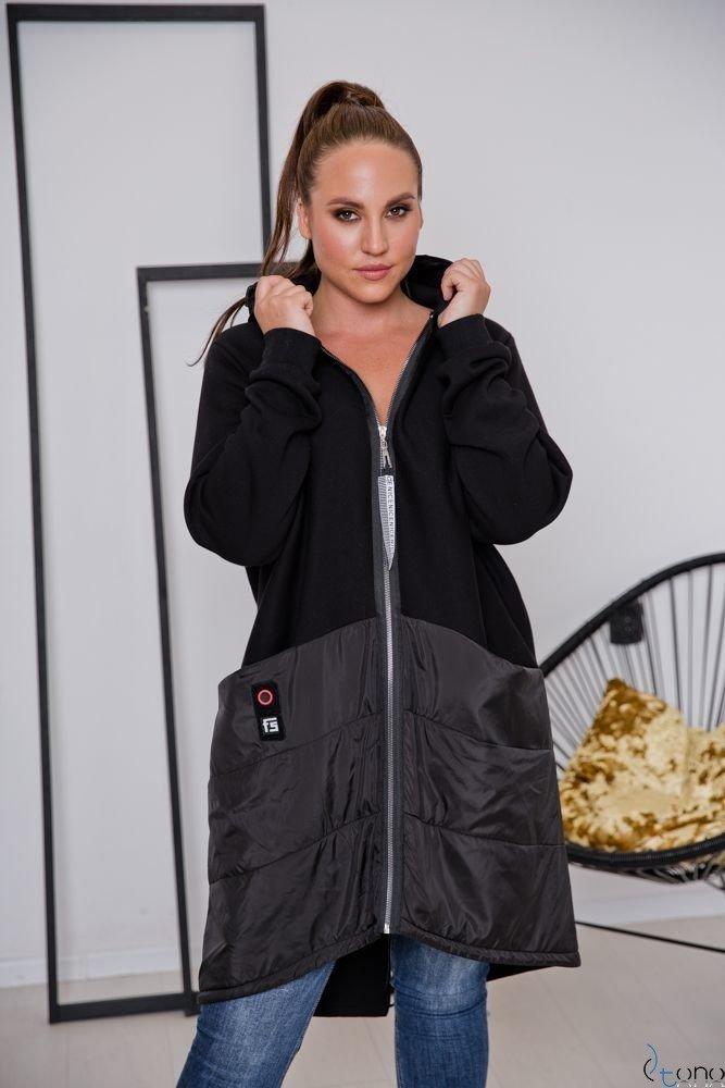 Czarna Bluza VIRAL Plus Size