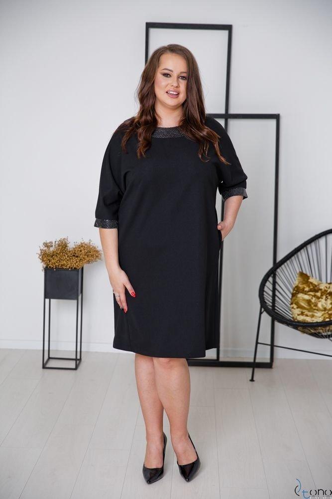 Czarna Sukienka BALERIA Plus Size