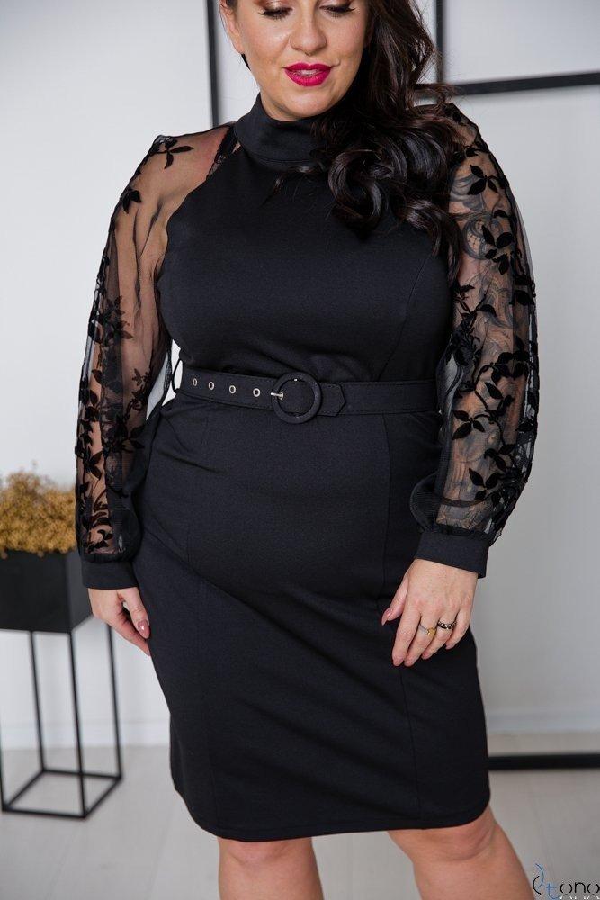 Czarna Sukienka HAGS Plus Size