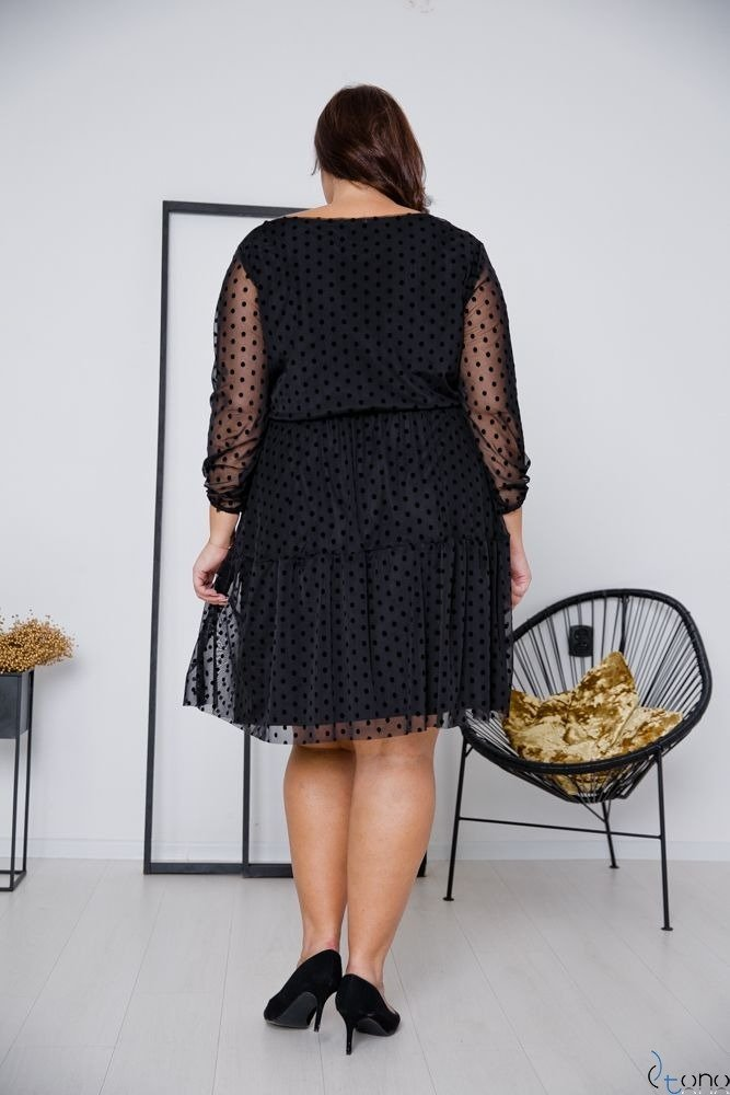Czarna Sukienka MATTIA Plus Size