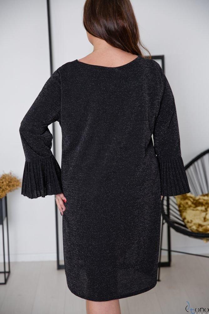 Czarna Sukienka NESIA Plus Size