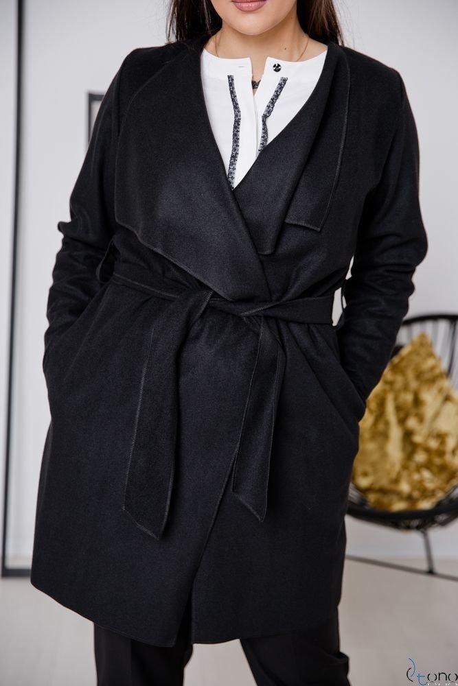 Czarny Płaszcz TARDOR Plus Size