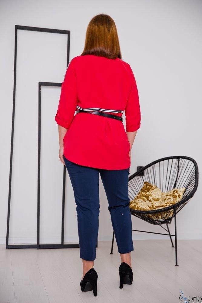Granatowe Spodnie SHILOW Plus Size