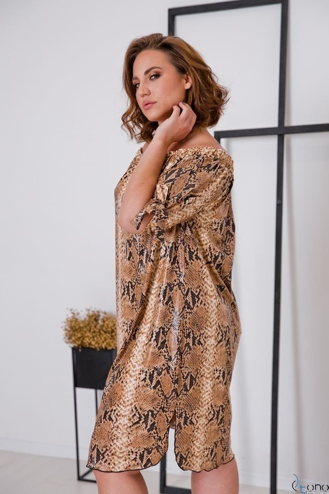 Sukienka SNAKE Plus Size Wzór 3