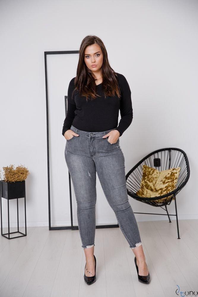 Szare Spodnie SIVA Plus Size