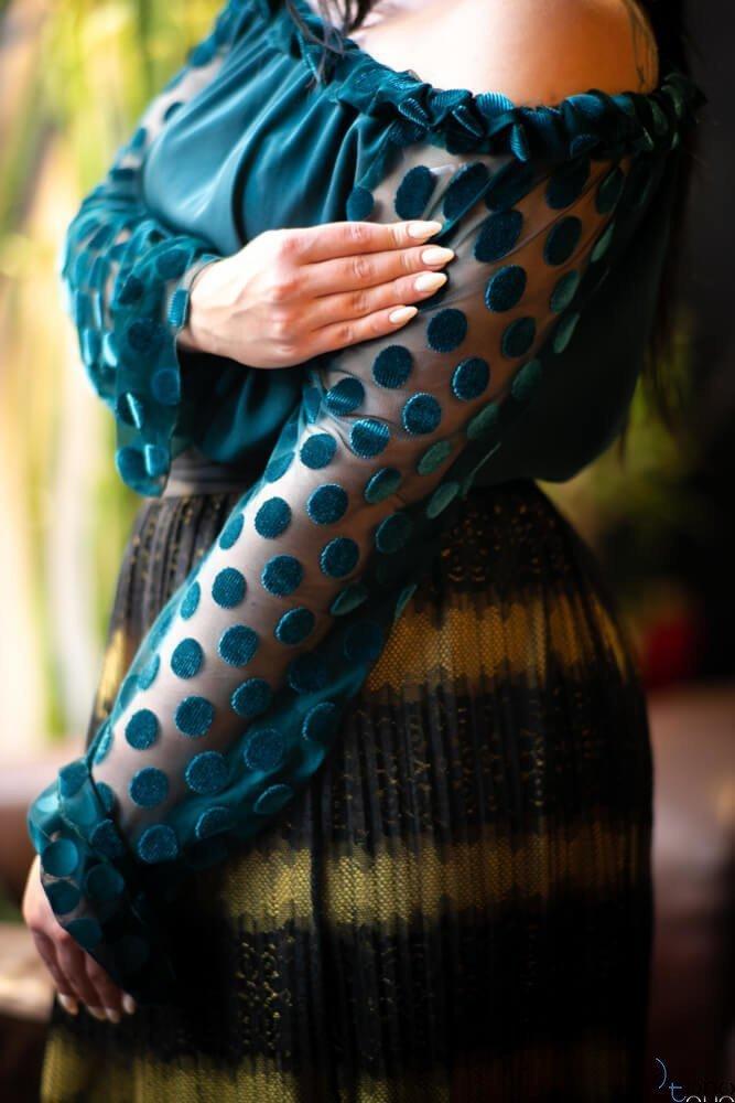 Zielona Bluzka HERMIONA Plus Size