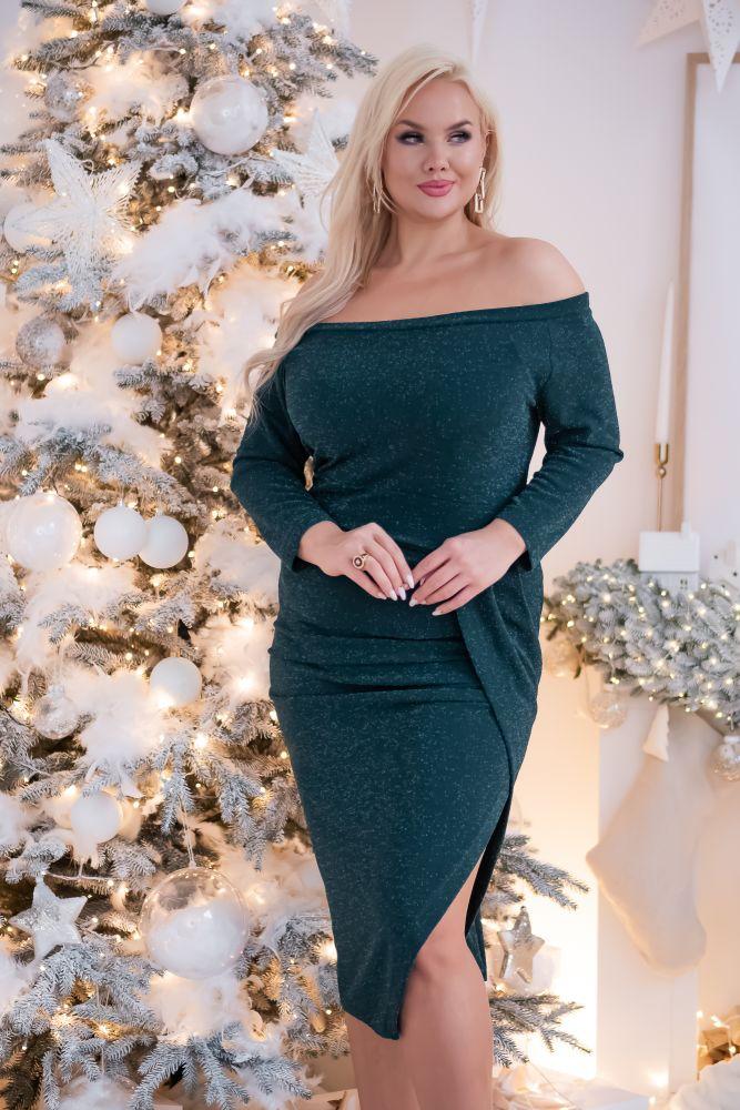 Zielona Sukienka SISIE Plus Size