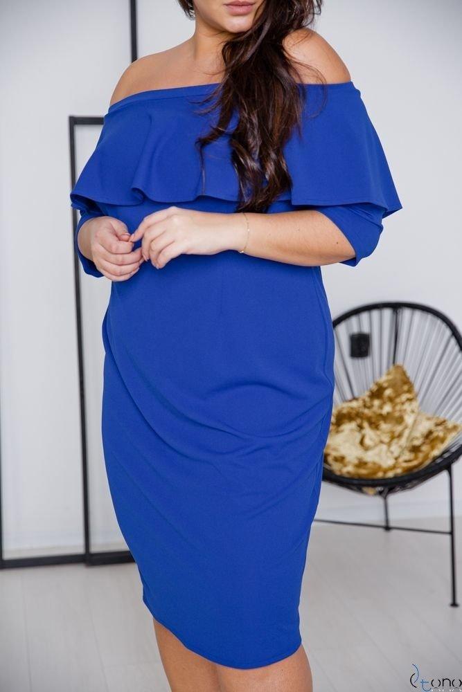Chabrowa Sukienka ALBETTA Plus Size