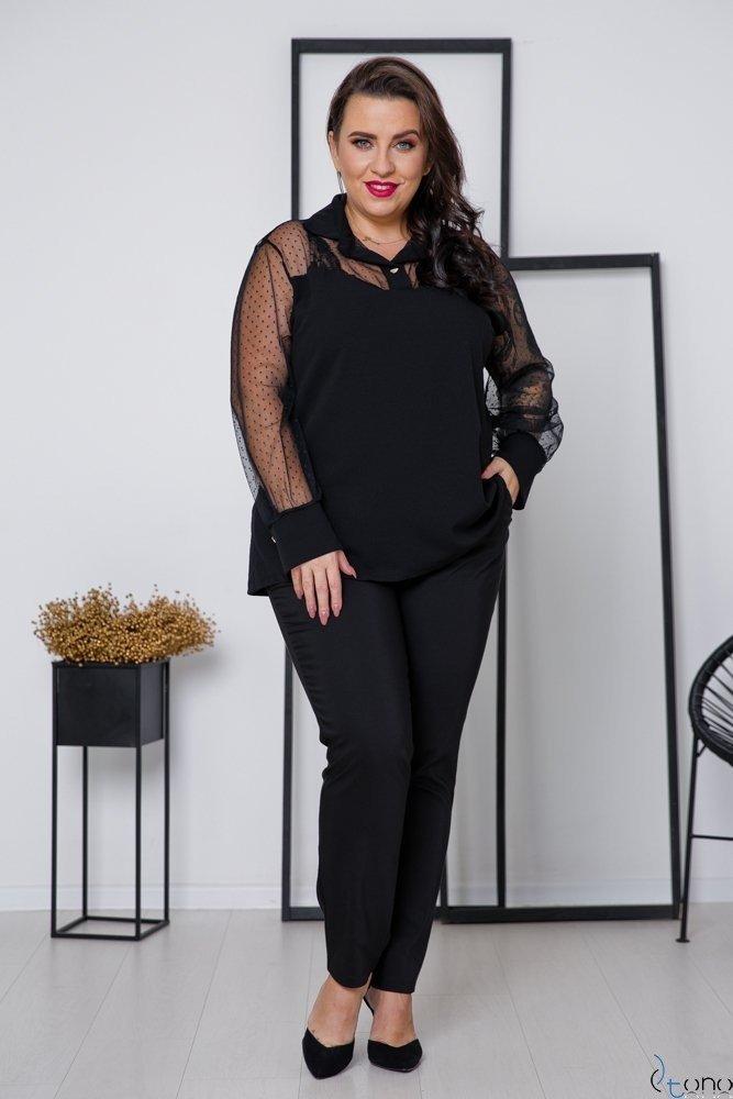 Czarna Bluzka SEPHIA Plus Size