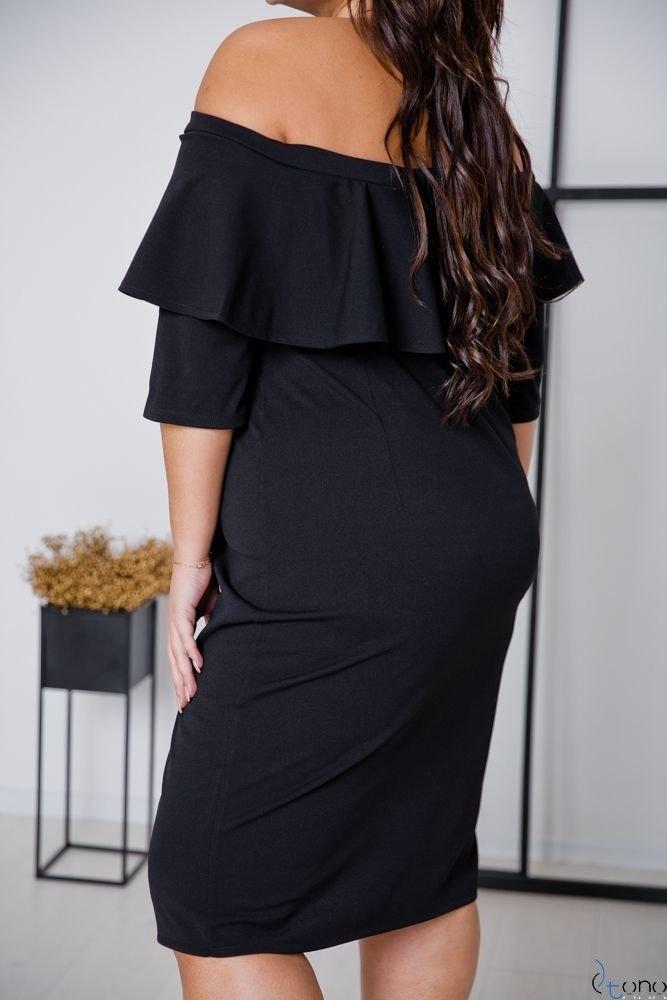 Czarna Sukienka ALBETTA Plus Size