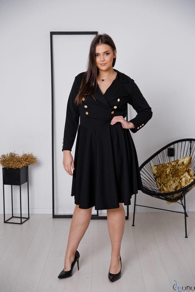 Czarna Sukienka RECIFE Plus Size