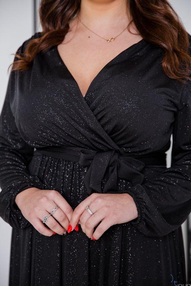 Czarna Sukienka SAVOY Plus Size