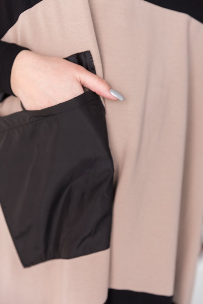 Czarna Sukienka SERELIA Plus Size Wzór 1