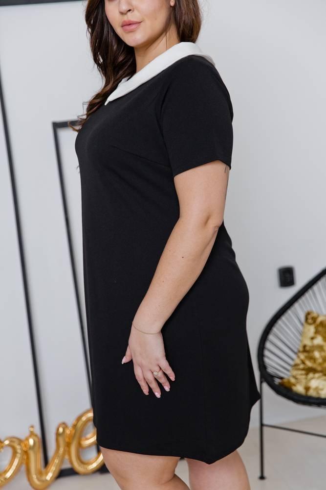 Czarna Sukienka VIRGO Plus Size