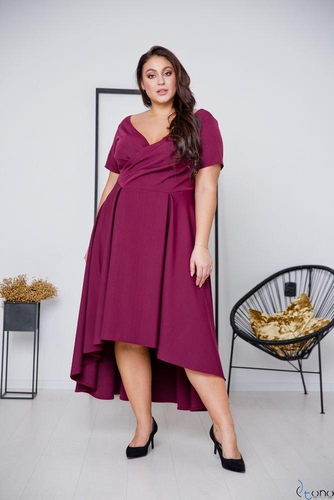 Fioletowa Sukienka CATENA Plus Size