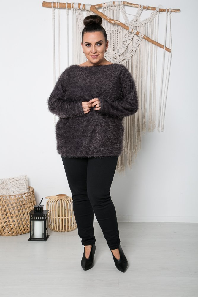 Grafitowy Sweter FABIOLA Plus Size