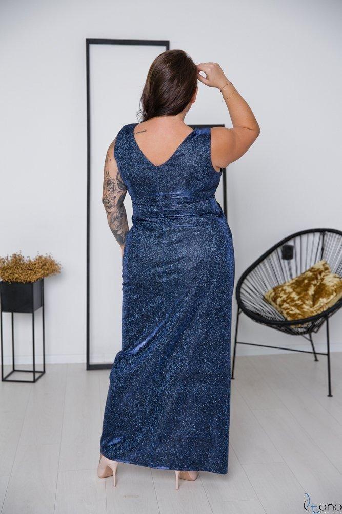 Granatowa Sukienka FINESYA Plus Size