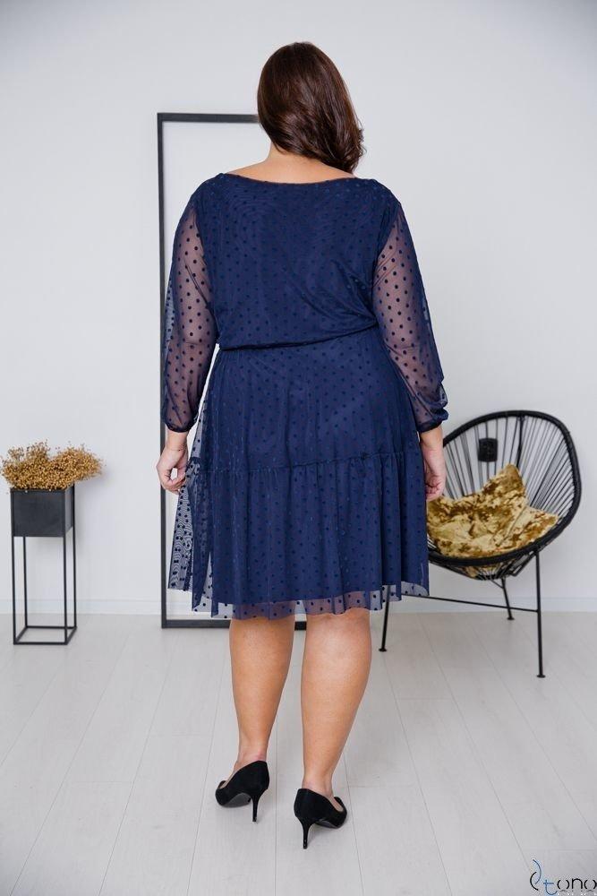 Granatowa Sukienka MATTIA Plus Size