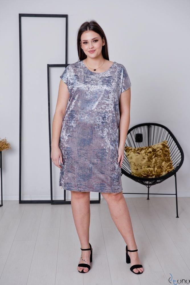 Różowa Sukienka CARBONA Plus Size