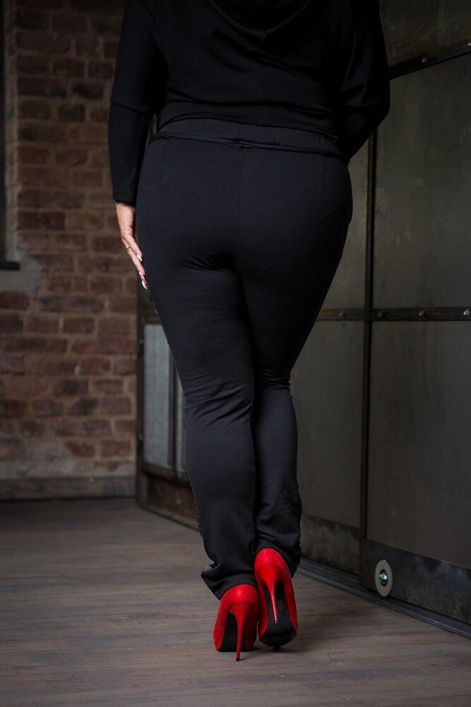 Spodnie JERSEY Lampas Plus Size wzór 3