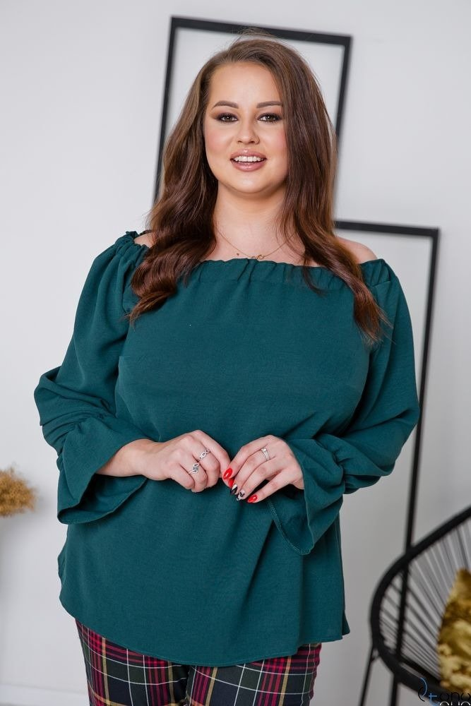 Zielona Bluzka SEVIJA Plus Size