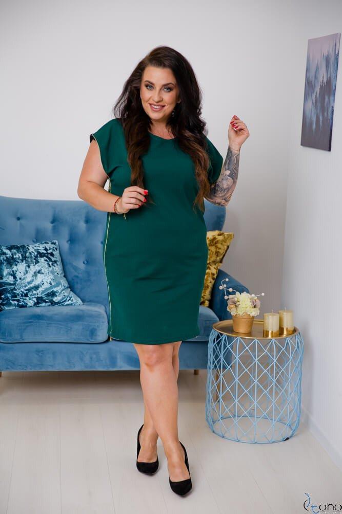 Zielona Sukienka CARBONA Plus Size