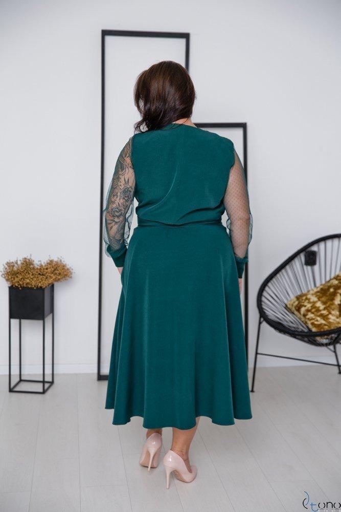 Zielona Sukienka CERTIMA Plus Size